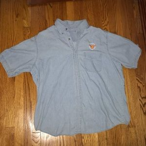 Texas Longhorn Men's Denim Shirt